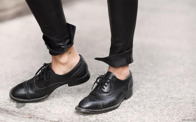 обувь в базовом гардеробе, ботинки дерби