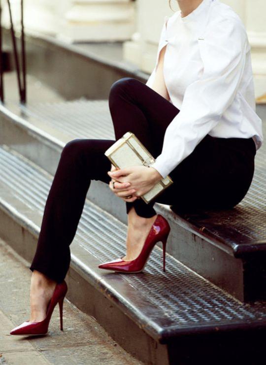 обувь в базовом гардеробе, туфли на каблуке