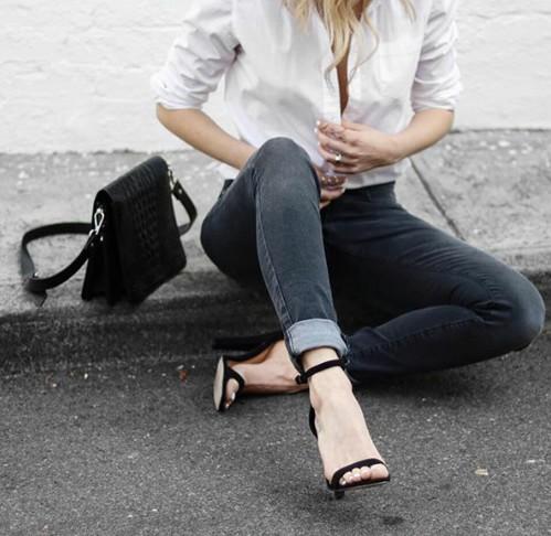 черные босоножки на каблуке, летний базовый гардероб 2017, летний гардероб с нуля