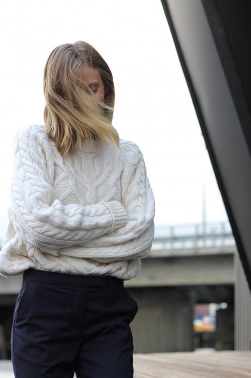 свитер крупная вязка