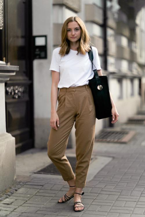 Парижский гардероб, базовый гардероба, Виктория Лунина. Белая футболка.