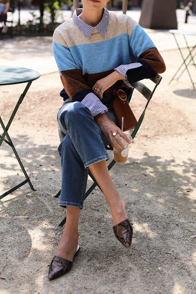 Парижский гардероб, базовый гардероба, Виктория Лунина. Мюли.