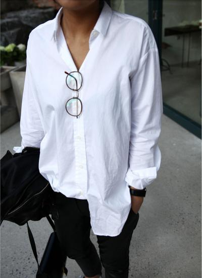 Как составить базовый гардероб, 7 простых шагов. Белая рубашка.