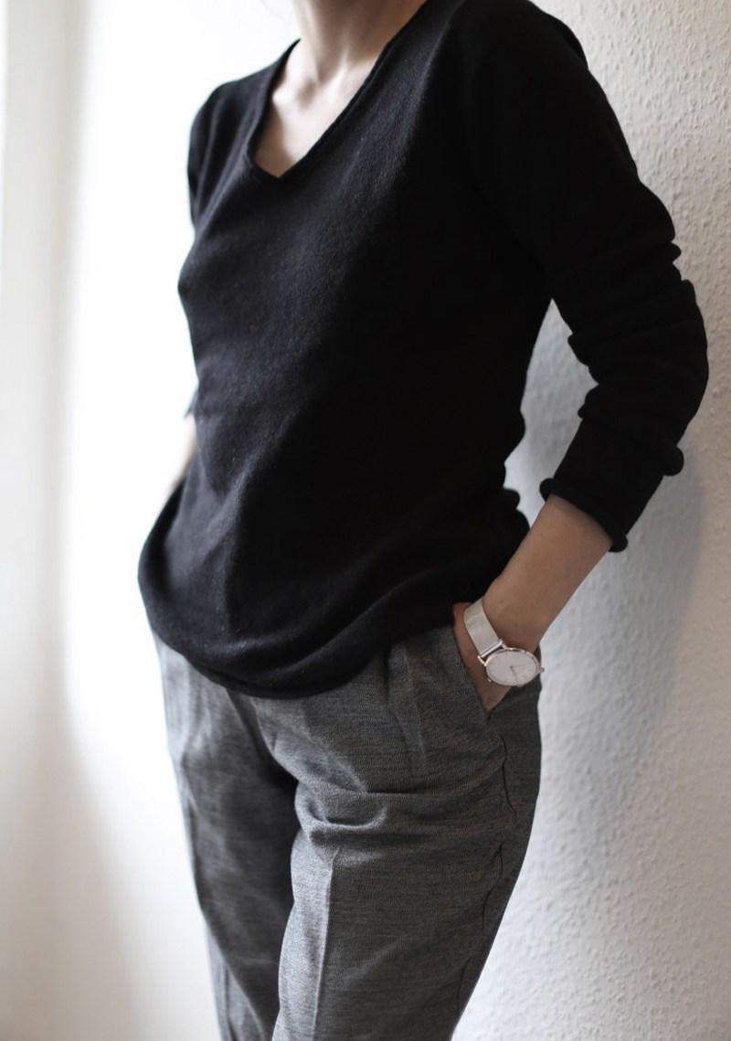 Как выбрать кашемир - черный кашемировый пуловер