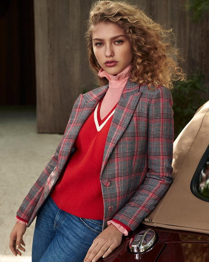 Весна-лето 2018, тренды, французские бренды, Claudie Pierlot, пиджак в клетку